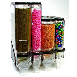 Various bulk food dispensers