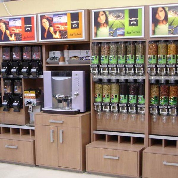 Coffee and tea wall