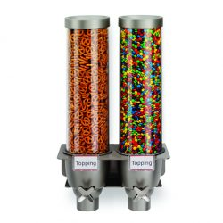Wall mount dry food dispenser set