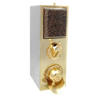 8kg coffee bean dispenser gold finish