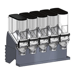 Bulk dispenser shelf