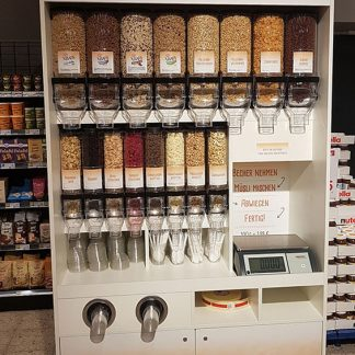 Breakfast cereals dispense concept