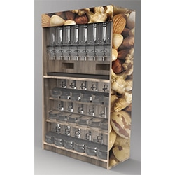 Bulk food display, wood
